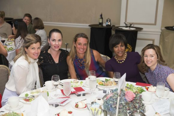 SAN FRANCISCO, CA - October 7 - Josie Freckmann, Marianne Ramirez, Carla Humphrey, Jeana Toney and Tina Bou-Saba attend Homeless Prenatal 5th Annual Luncheon October 7th 2016 at Fairmont SF in San Francisco, CA (Photo Credit: Devlin Shand for Drew Altizer Photography)