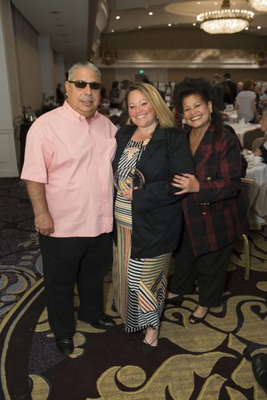 SAN FRANCISCO, CA - October 7 - ?, Christina Hernanxez and ? attend Homeless Prenatal 5th Annual Luncheon October 7th 2016 at Fairmont SF in San Francisco, CA (Photo Credit: Devlin Shand for Drew Altizer Photography)